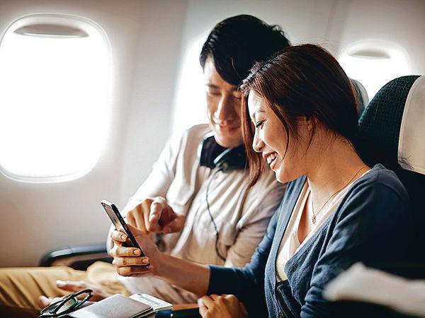 飛行旅途購物兼煲劇 國泰加推高速Wi-Fi
