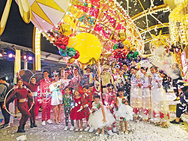 空中之城聖誕喜飛 海港城亮燈傳歡樂