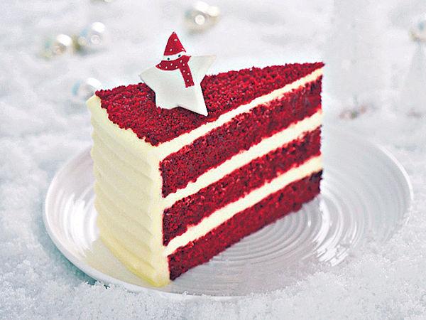 紅絲絨蛋糕迎聖誕