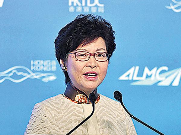 林鄭:港珠澳橋與高鐵 物流業受益大