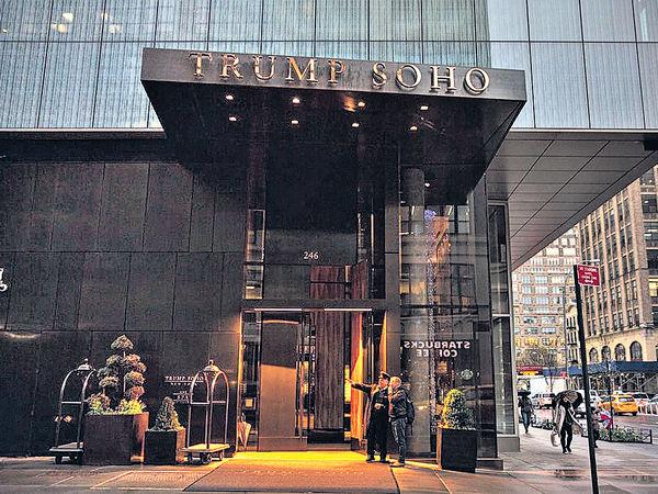 紐約酒店生意暴跌 除「特朗普」冠名