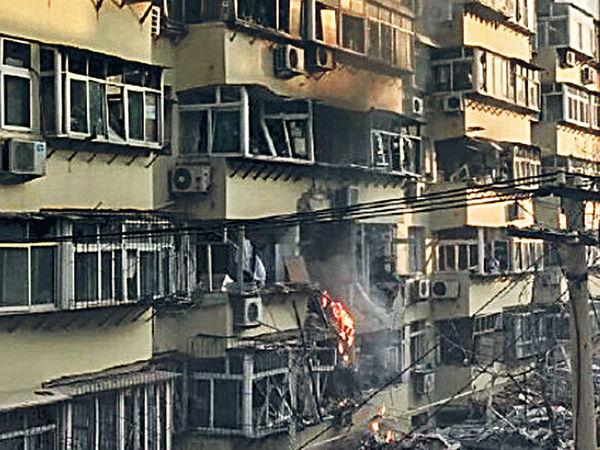 濟南民居疑氣爆 4層樓玻璃震碎