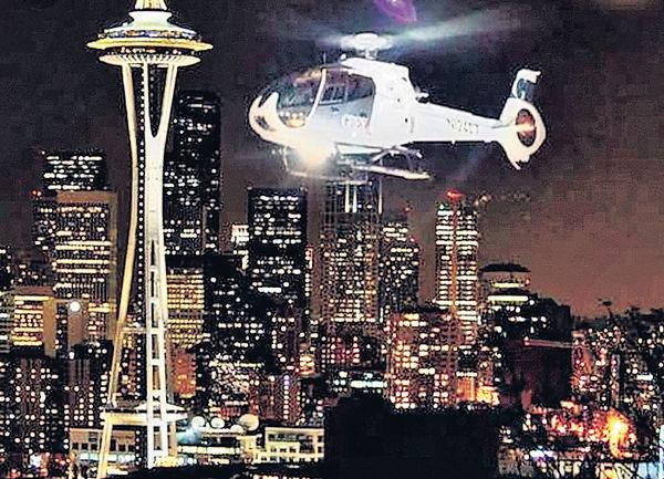 直升機夜遊觀光