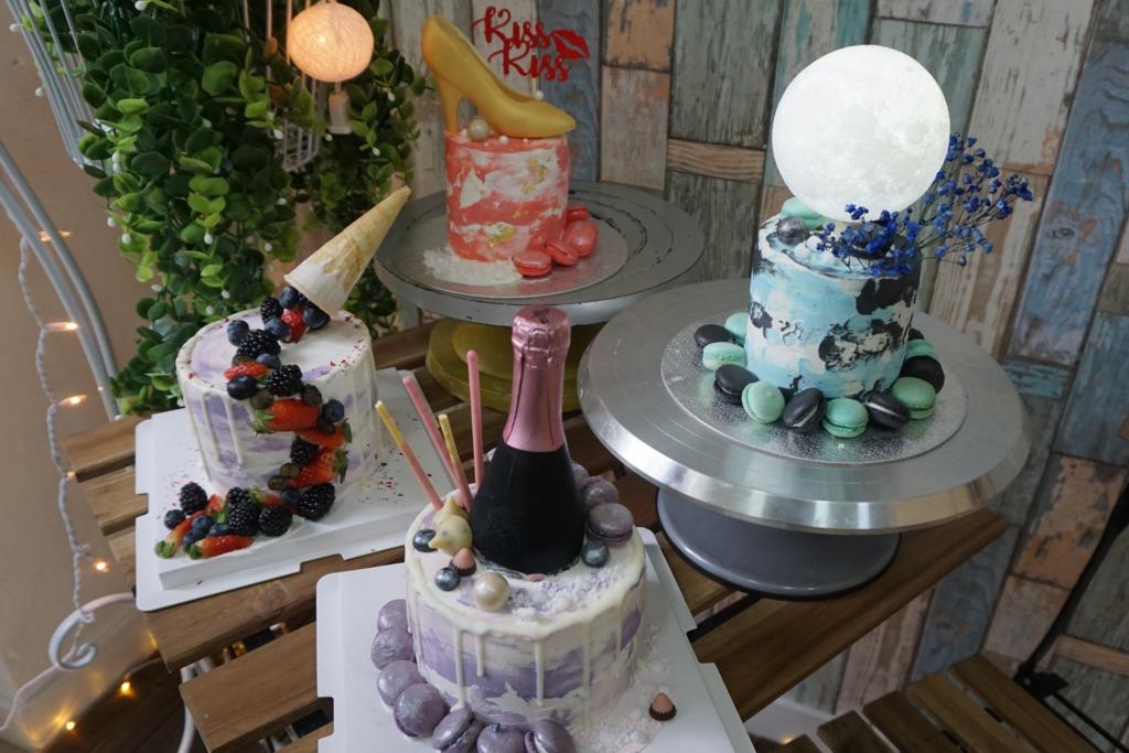 柴灣甜品教室 原支香檳蛋糕+發光月球蛋糕