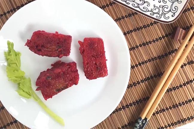 純素賀年糕點 4步完成紅菜頭蓮藕糕