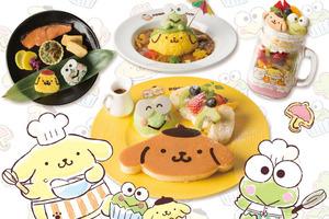 日本Cafe期間限定  布甸狗+Keroppi主題美食登場