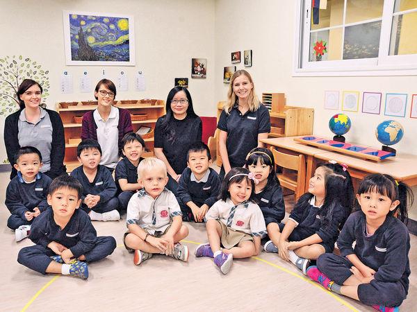 港島蒙特梭利國際幼稚園 混齡上課 重觸感體驗