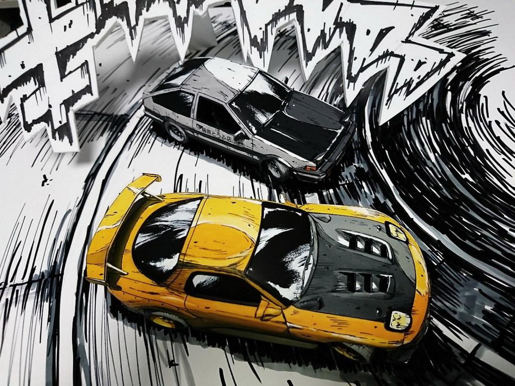 頭文字d漫畫風模型車3d 立體變2d Ezonehk 遊戲動漫