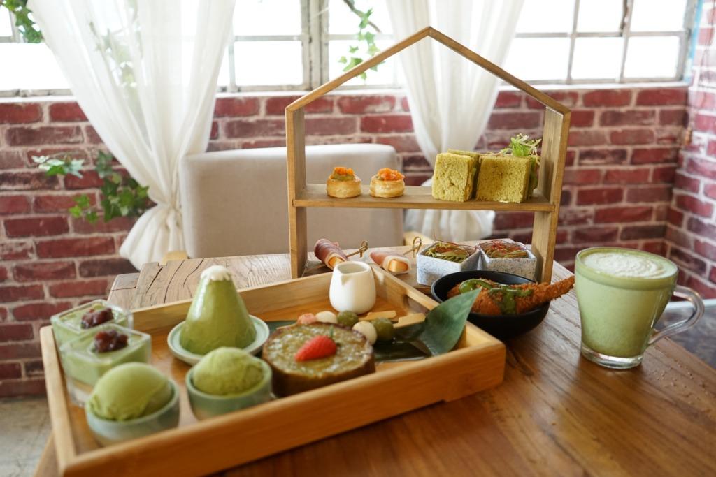 3000呎觀塘Cafe歎抹茶下午茶 富士山抹茶蛋糕+三色白玉