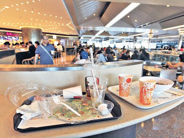 Food Court濫發即棄餐具
