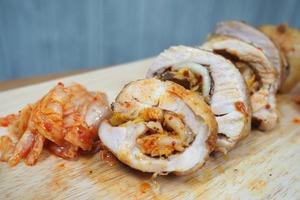 新手入門簡易食譜 醒胃泡菜雞肉捲