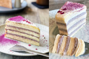 【台灣Cafe】台北悠閒咖啡店 嘆紫薯芋泥千層蛋糕