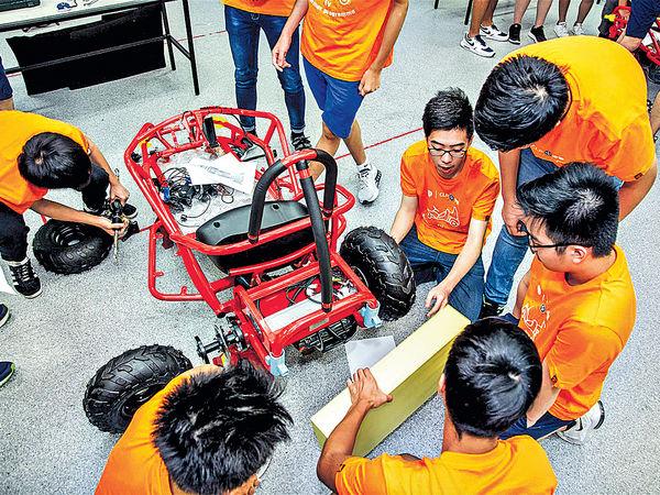 中學生自製電動車 了解新科技