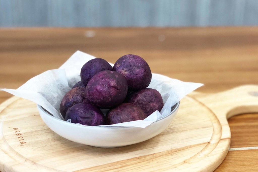 【簡易食譜】輕鬆整出放題小食 芝士紫薯炸波