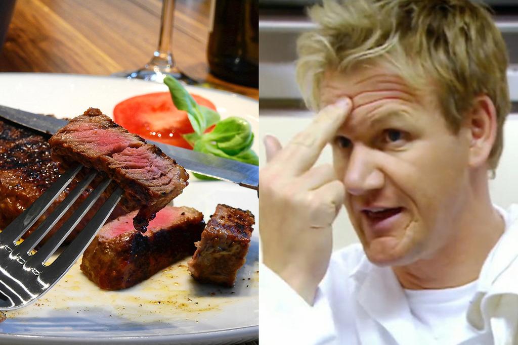 【牛扒幾成熟英文】教你牛扒唔同生熟度英文 Gordon Ramsay:全熟質地似額頭