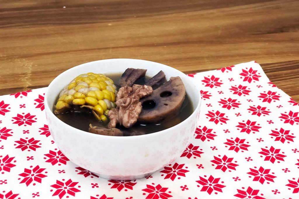 蓮藕栗子素湯