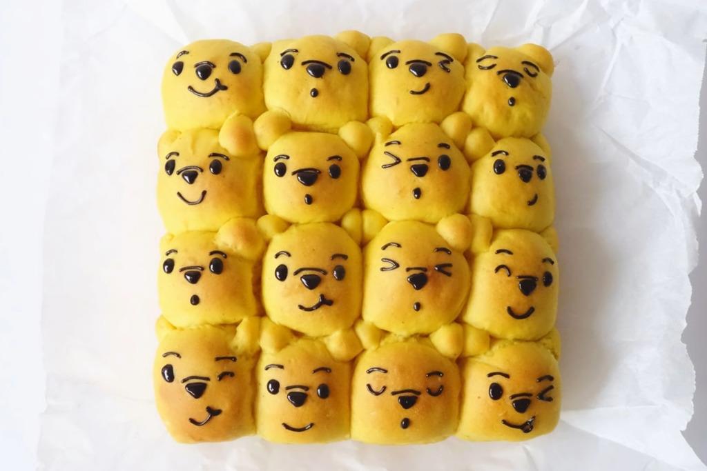 【麵包食譜】軟綿綿超可愛! 自製小熊維尼麵包
