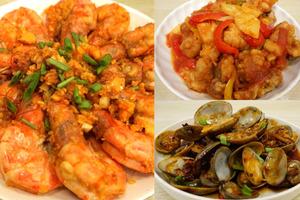 【中秋食譜】簡易版風味鑊氣小炒 黃金蝦/酸甜排骨/豉椒炒蜆