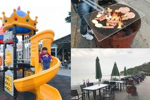 【屯門美食】$130望住海景任食BBQ!龍鼓灘親子海邊燒烤樂園