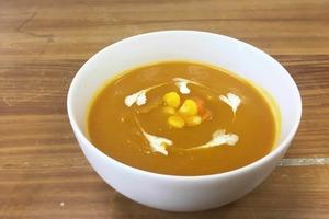 【減肥餐單】低熱量+飽肚感高  3步完成南瓜蔬菜濃湯