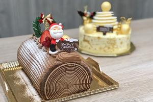 【聖誕蛋糕 2018】聖誕派對之選 聖誕樹頭卷蛋/白色聖誕樹蛋糕