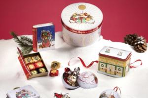 【聖誕禮物2018】意大利巧克力品牌Vench聖誕禮盒  經典木製禮籃/巧克力吊飾