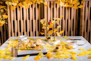 【銅鑼灣下午茶】銅鑼灣日本餐廳推金黃下午茶 歎12款精緻銀杏/花茶鹹甜點