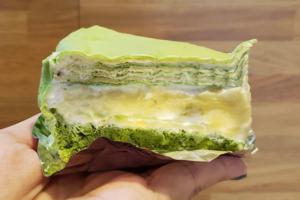 【澳門美食】澳門高人氣街坊甜品店 $36抵食貓山王榴槤抹茶千層蛋糕