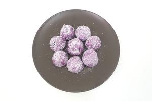 【糯米糍食譜】零難度煙韌甜品食譜! 香甜紫薯糯米糍