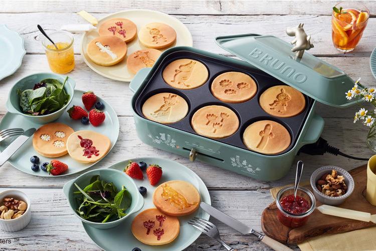 【Bruno廚具】Bruno聯乘姆明家族推出電熱鍋 姆明手柄+3款烤盤 香港都買到!