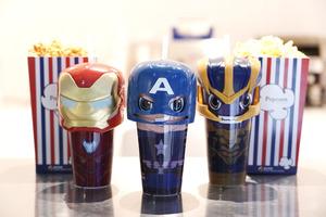 【復仇者聯盟4】戲院限量推出復仇者聯盟Avengers汽水杯 Q版美國隊長/Iron Man/魁隆
