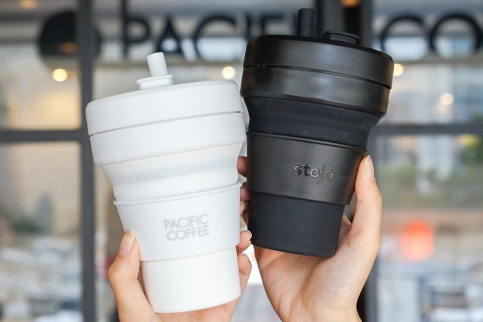 【環保杯】Pacific Coffee聯乘Stojo推出折疊杯 一款四色方便攜帶/可放入微波爐