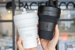 【摺疊杯】Pacific Coffee聯乘環保杯品牌Stojo推出折疊杯 一款四色方便攜帶/可放入微波爐