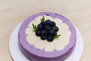 【蛋糕食譜】三色漸變打卡甜品食譜 免焗藍莓芝士蛋糕