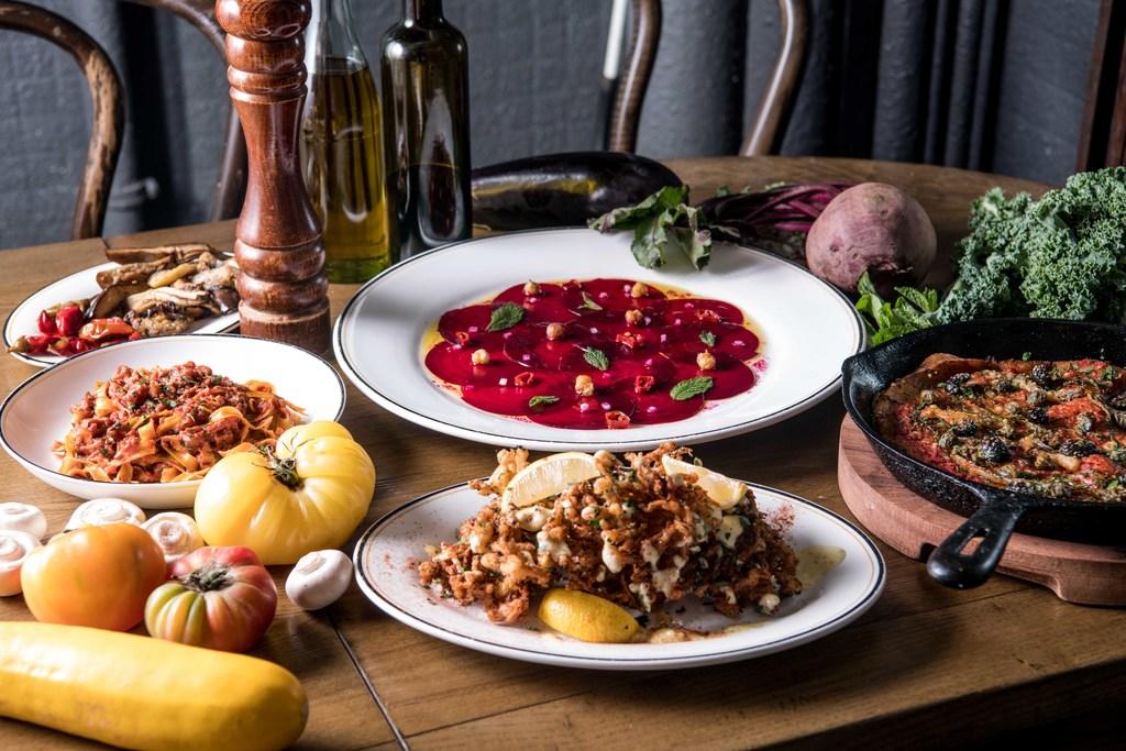 【中環素食】中環意大利菜Posto Pubblico推出全新素菜 純素意粉/酥炸金菇/紅菜頭薄片
