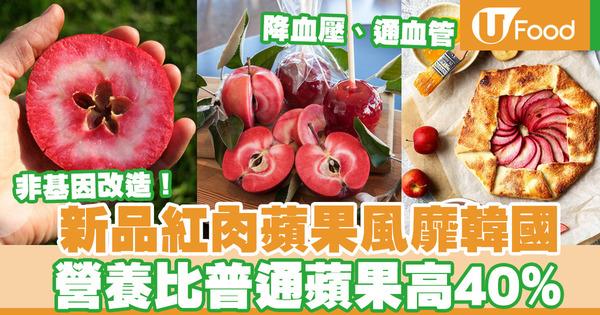 【韓國美食】澳洲新興紅肉蘋果Redlove Apple風靡韓國  營養比普通蘋果高  有助預防心血管疾病