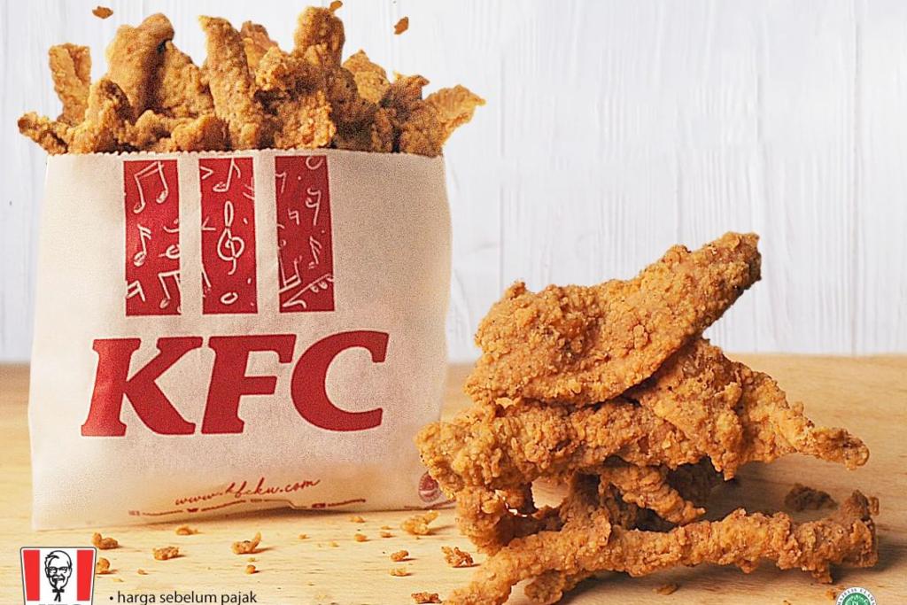 【印尼肯德基】印尼KFC新推出$7大大包炸雞皮 香脆爆汁配啤酒汽水一流!