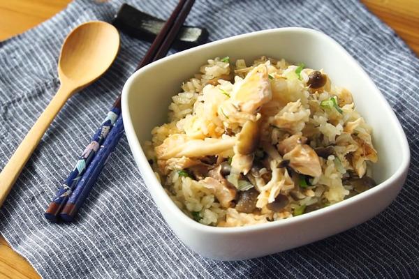 【懶人食譜】懶人一煲搞掂高蛋白減肥餐! 三文魚風味飯