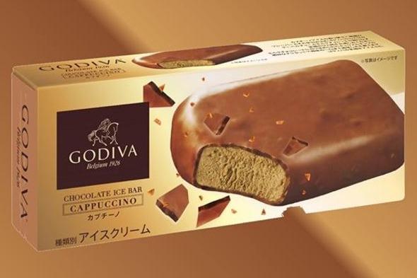 日本Godiva推出新品 成人口味Cappuccino焦糖朱古力脆皮雪條