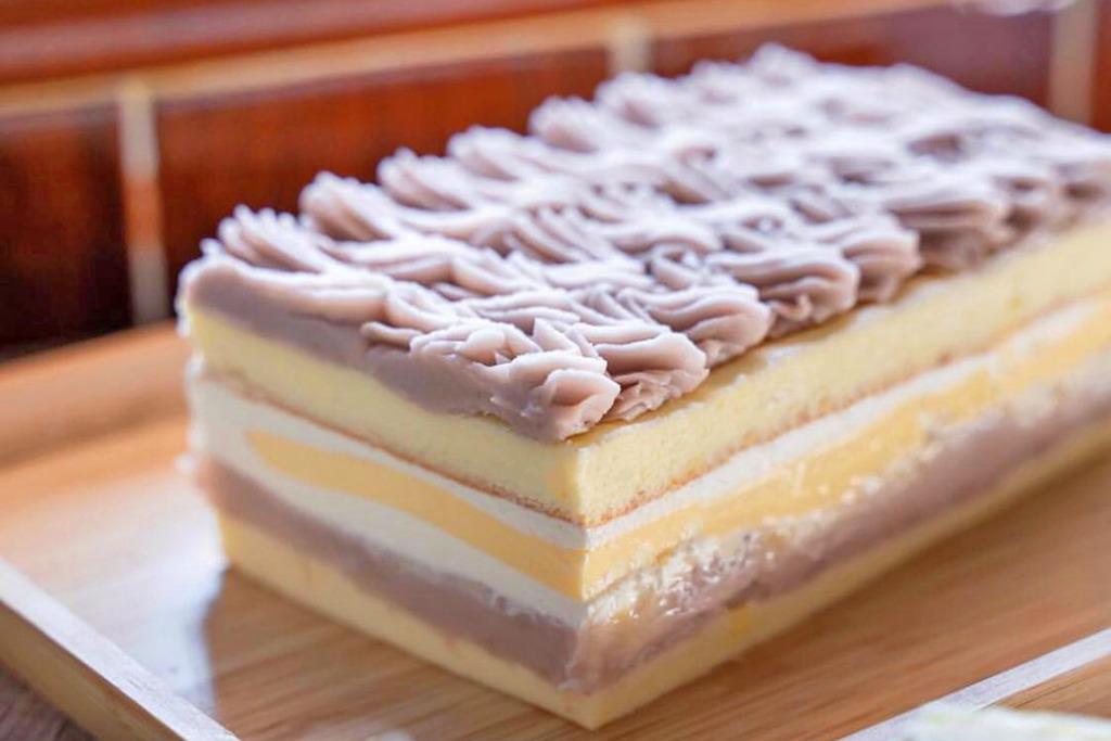 【台灣手信2019】台灣期間限定手作甜品芋泥布甸蛋糕  雙層芋頭蓉綿密順滑