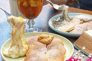 台灣人氣咖啡店「ici cafe」推出新品 芝麻/花生鮮奶麻糬配班戟