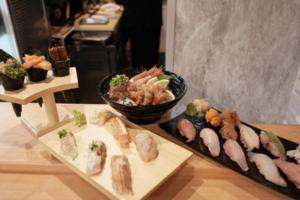 【尖沙咀美食】尖沙咀豐洲市場直送立食壽司店翔壽司  抵食Omakase/$58魚生丼飯