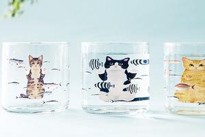 【日本手信2019】貓奴必入手日本貓咪玻璃杯 貓貓遇水秒變肥!