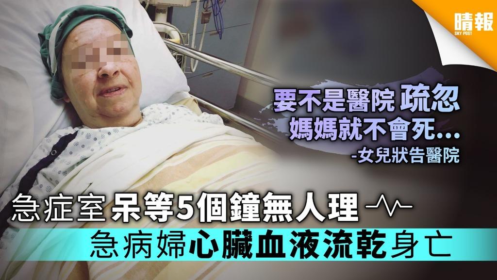 急症室呆等5個鐘無人理 急病加國婦心臟血液流乾身亡