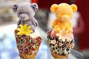 【深水埗美食】深水埗平民價雪糕店 $45蜜瓜雪糕盅/啤啤熊雪糕脆筒