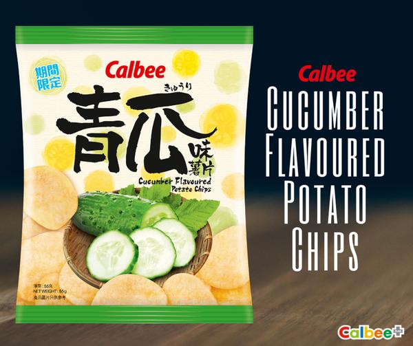 【卡樂B薯片/卡樂B蝦條】Calbee卡樂B期間限定口味新登場 韓風泡菜味粟一燒蝦條/青瓜味薯片