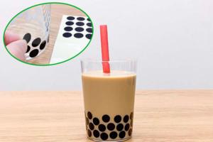 【珍珠奶茶貼紙】日本網民創意低卡減肥法 貼紙偽裝珍珠奶茶超搞笑!