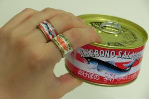 【日本扭蛋】送給餓底女朋友!日本搞笑罐頭戒指扭蛋  吞拿魚罐頭/沙甸魚罐頭/鯖魚罐頭