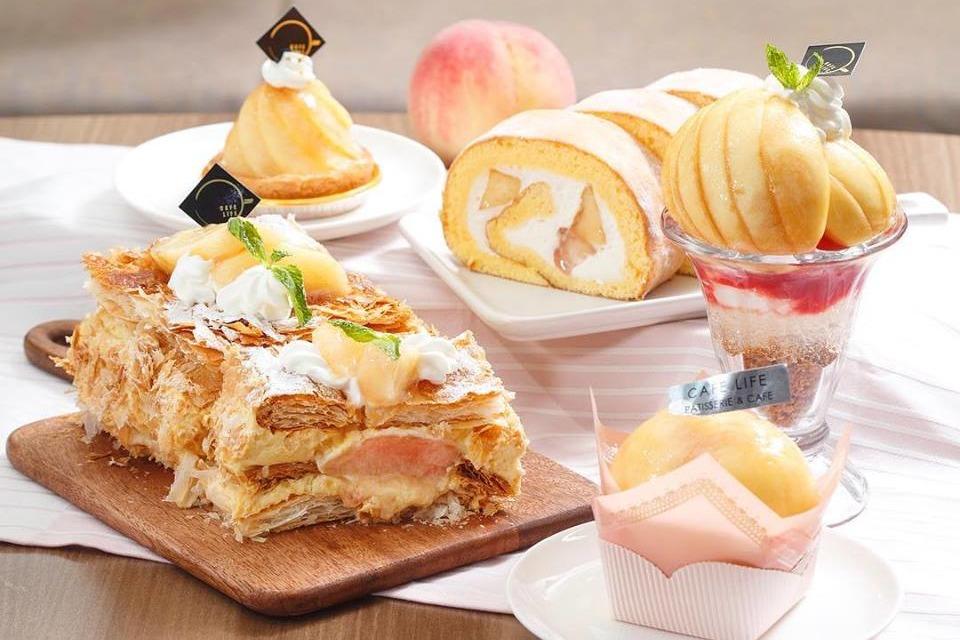 【中環Cafe】Café Life推出季節限定白桃主題甜品 原個白桃撻/白桃芝士蛋糕/白桃千層酥/白桃卷蛋