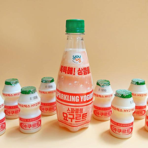 【OK便利店】便利店韓國直送新款乳酸飲品 酸甜碳酸有氣益力多梳打